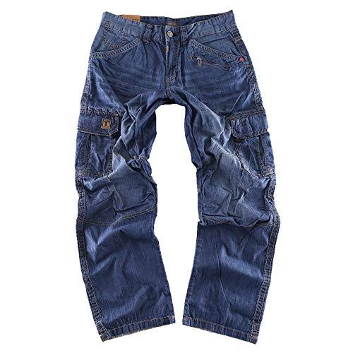 Timezone Herren Relaxed Hose BenitoTZ 3131 Denim Cargo Pants W34/L32