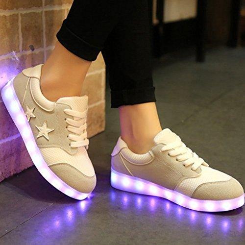 [Present:kleines Handtuch]JUNGLEST® Schwarz 7 Farbe Unisex LED-Beleuchtung Blink USB-Lade Turnschuh-Schuhe c31