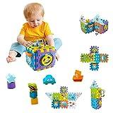 YGJT Juegos de Bloques Musical Juguetes de Bebe - Cubo de Construcción Multifuncional 9 en 1 Bebé con Musica y luz Clasificador de Formas Centro de Actividades Juguete Educativo para Niños 1-4 años