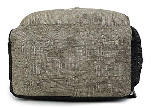Longzibog Dual verstellbare Schultergurte und Hängeschlaufenband Mode Damen accessories hohe Qualität Einfache Tasche Schultertasche Freizeitrucksack Tasche Rucksäcke Khaki