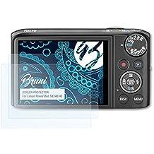 Bruni Schutzfolie für Canon PowerShot SX240 HS Folie - 2 x glasklare Displayschutzfolie