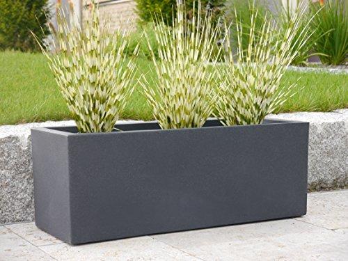 Pflanztrog VITO L80x B30x H30cm aus Kunststoff in anthrazit, Pflanzkübel, Blumenkübel