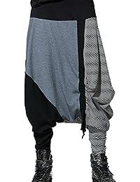 Panegy Moda Casual Harem Pantalones Algodón Harem Danza Hiphop Pantalón Holgado Pantalones de Chándal para Hombres Chicos Adolescentes Talla Única 8 Modelos a Elegir