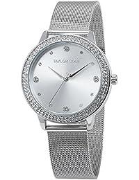 Taylor Cole TC070 - Reloj Mujer Cuarzo de Acero Inoxidable Plateado