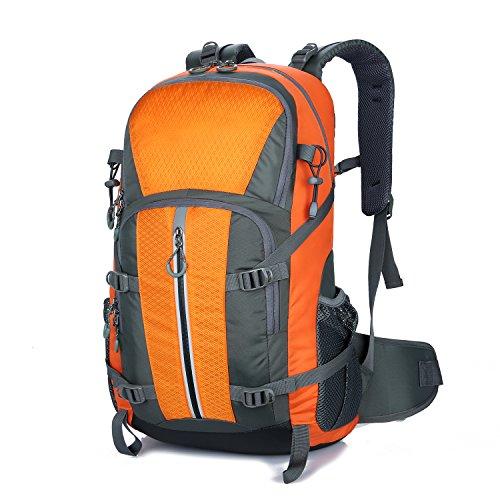 Young & Ming - 45L Unisex Rucksäcke Im Freien Wandern Klettern Freizeit Trekkingrucksäcke Outdoor Taschen Radfahren Reiten Reisetaschen wasserdicht Backpack Orange