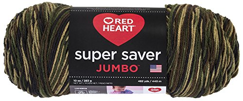 "Red Heart \""Super Saver Jumbo\"" Strickgarn, 073650013508 Camouflage"