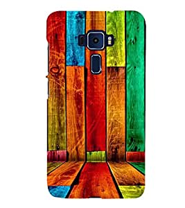 ifasho Designer Back Case Cover for Asus Zenfone 3 Deluxe ZS570KL (5.7 Inches) (Dogs Fox News Wood Vinyl)