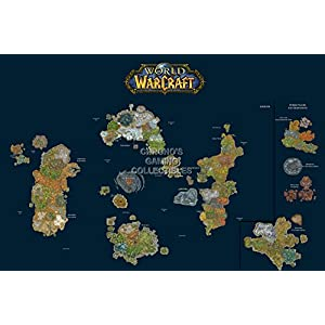 CGC Große Poster im Hochglanz – World of Warcraft World Map PC – ext185, 24″ x 36″ (61cm x 91.5cm)