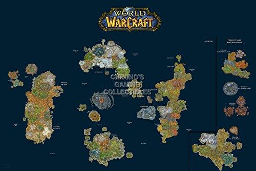 World of Warcraft – Weltkarten Poster