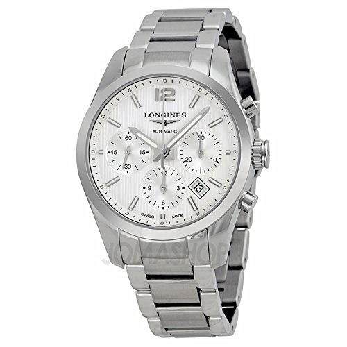 Longines Conquer Silver Dial Chronograph Stainless Steel Mens Watch L27864766