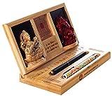 Pandit Shivkumar 124 Wooden Pen Stand 8.89 cm X 24.13 cm X 3.175 cm
