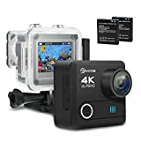 Action Kamera, EIVOTOR WIFI 4K Sport Kamera 16MP Helmkamera 30m Wasserdicht Unterwasserkamera 2 Zoll...