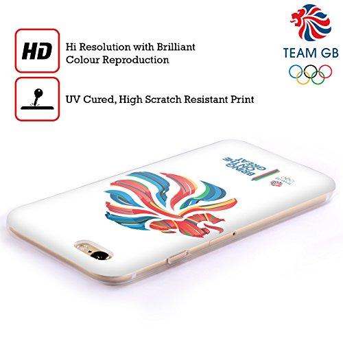 Official Team GB British Olympic Association Bahia Background Rio Soft Gel Case for Apple iPhone X Bahia Leone