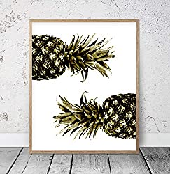 Scott397House Wood Framed Sign Pineapple Pineapple Printable Most Sold Items Pineapple Instant Download Printable Black Pineapple Art Black and White Home Wall Decor 8x12 Inch