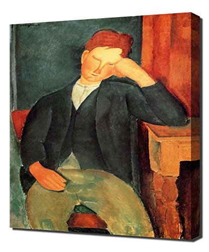 Amedeo Modigliani Kunstdruck (Lilarama Amedeo Modigliani Peasant Boy - Art Leinwandbild - Kunstdrucke - Gemälde Wandbilder)
