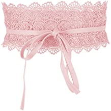 fa8e0954562 Amazon.fr   ceinture à nouer - Rose