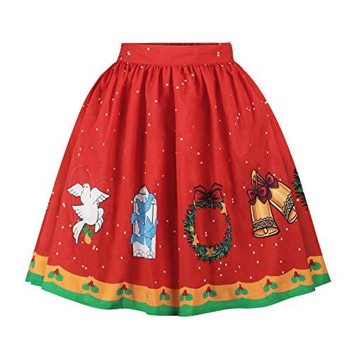 exklusive wohnwaende Kleid Weihnachten,sexy Rock, Quaan Weihnachtsmann Aufflackern Taille Cosplay Ball Kleid Performance Eine Linie lose Sexy Mini Lolita-Stil Klassisch Prinzessin Kostüm Kleid