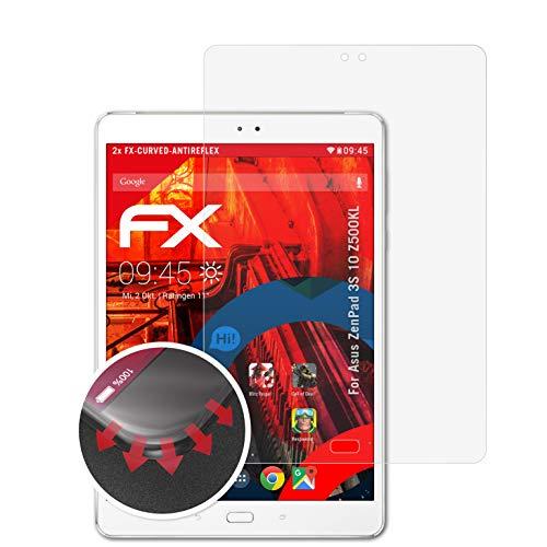 atFolix Schutzfolie passend für Asus ZenPad 3S 10 Z500KL Folie, entspiegelnde & Flexible FX Bildschirmschutzfolie (2X)