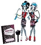 Monster High - Bjr17 - Poupée Mannequin - Fusion Monstrueuse - Coffret Zombie Les Jumelles Werecat Twins
