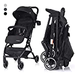 COSTWAY Kid Pram | Folding Baby Stroller with Safe Five-Point Harness and Brake, Adjustable Backrest, Including Footrest, Raincover and Cup Holder, 360 Degree Swivel Wheels, for 0-3 Ages