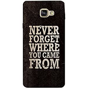 Casotec Thought Design 3D Printed Back Case Cover for Samsung Galaxy A7 (2016)