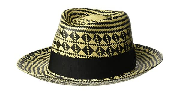 d7665909e28 Bailey of Hollywood Men s Hartley Contrast Patterned Weave Fedora Hat   Amazon.in  Clothing   Accessories