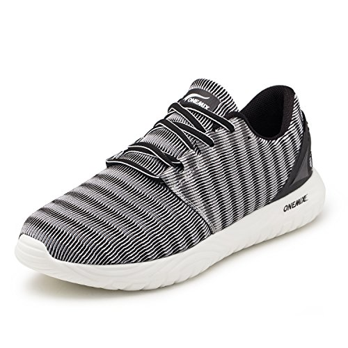 Onemix scarpe da ginnastica da uomo, scarpe da corsa casual sportive running fitness sneakers grigio 44