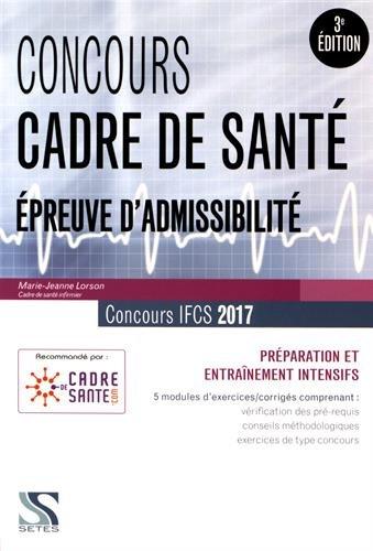 Concours cadre de santé 2017 Epreuve d'admissibilité