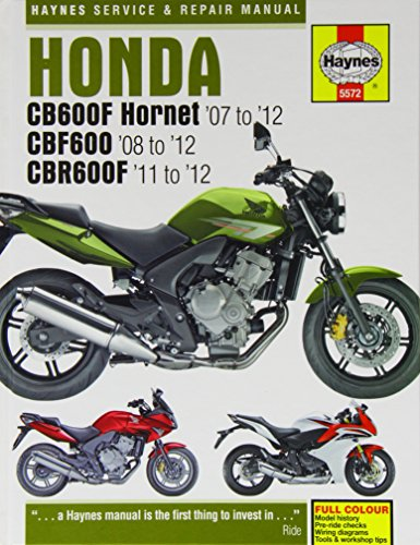 Honda CB600F Hornet, CBF600 & CBR600F Service and Repair Manual (Haynes Service and Repair Manuals)
