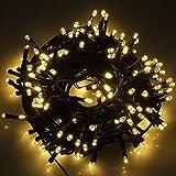 100 LED Lichterkette Warmweiß,10m Outdoor Lichterkette Warmweiß 8 Modi Dimmbar Wasserdichte Ip65 Für Außen/innen Weihnachten, Party, Haus, Hochzeit, Terrasse,Garten