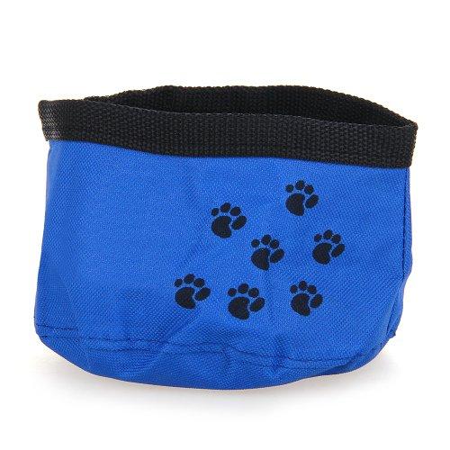Comedero Bebedero Portátil Color Azul para Perro Gato Mascotas