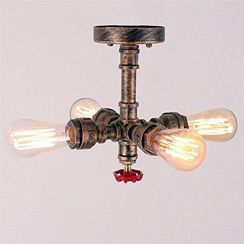 Retro Industrie Steampunk Wasserrohr Eisen Deckenlampe Kreative Vintage Edison Lampe Deckenleuchte Passend Loft Hote Wohnzimmer Kchen