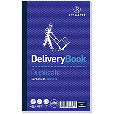 Challenge Duplicate Book autocopiante Delivery Note 210 x 130 mm Ref F63036 [Pack of 5]