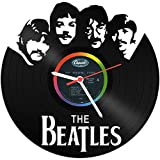 GRAVURZEILE The Beatles Wanduhr aus Vinyl Schallplattenuhr Upcycling Design-Uhr Wand-Deko Vintage-Uhr Wand-Dekoration Retro-Uhr Made in Germany