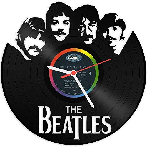 GRAVURZEILE The Beatles Wanduhr aus Vinyl Schallplattenuhr Upcycling Design-Uhr Wand-Deko Vintage-Uhr Wand-Dekoration Retro-Uhr Made in Germany (Uhr Vintage Wand)