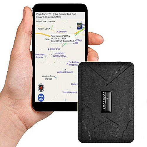 Fuerte magnética Vehículo GPS Tracker libre instalación Front GPS Locator Mirilla/Oculta/Secreto 10000mAh...