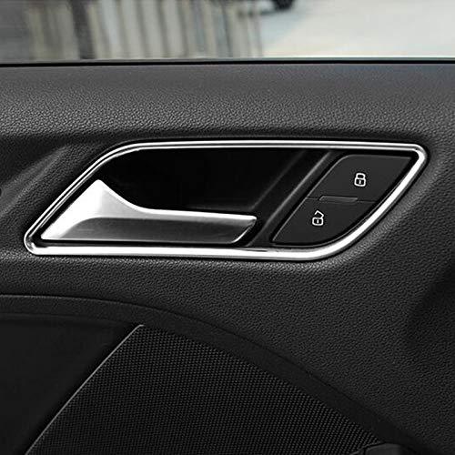 Gnnlor Innentürgriffe Zierleisten Türklinke Rahmen Dekoration Rahmen Abdeckung Aufkleber, für Audi A3 8V 2013-2019