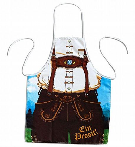 Deutschen Mann Lederhosen Kostüm - Widmann - Schürze für