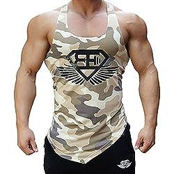 Camiseta de entrenamiento de camuflaje para hombre Feifanshop