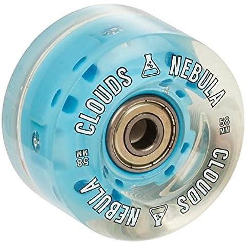 Ruedas para skate Nebula Light Up Quad - Clear/Blue (Set of 4)