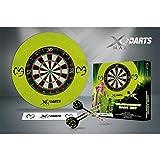 XQmax Erwachsene Xq-max Mvg Bristle Dart Board Set, Green, 1