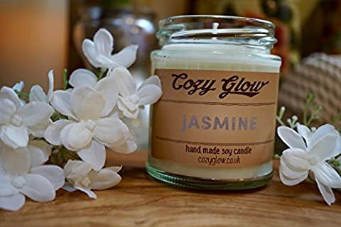 Cozy Glow Jasmine Soy Candle 30 Hours Burn Time / 6.8 ounce Candle Jar