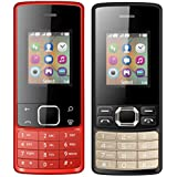 I KALL 1.8 Inch (4.57 Cm) Dual Sim Feature Phone Combo - K20 (Red) And K25 (Black)