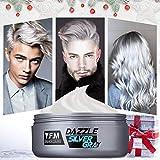 Tintura per capelli Y.F.M. Argento grigio cera stile capelli forma semplice Tintura capelli Facilità di pulizia Nessun inquinamento Composizione vegetale