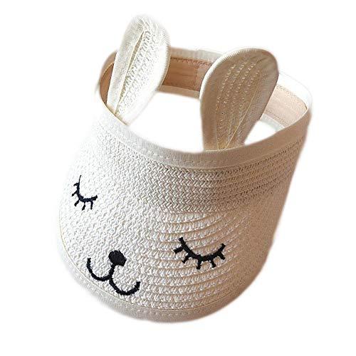 nanshoudeyi Unisex-Sonnenschutzhut für Kinder, verstellbar, Kaninchen, für Mädchen und Jungen Gr. Einheitsgröße, weiß