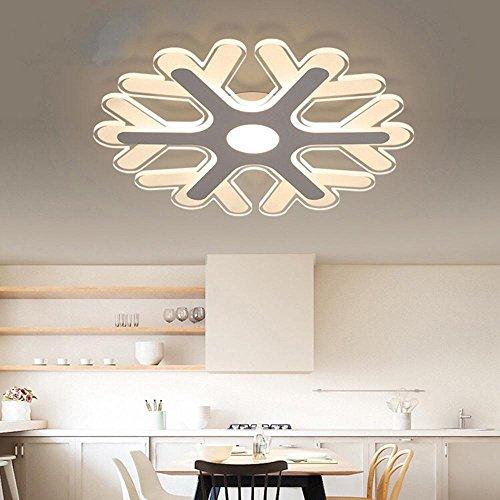 lim LED Schlafzimmer Moderne minimalistische romantische warme Schneeflocke, Tonal Light Without Remote Control, 42 * 42cm ()