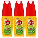 AUTAN Repellente per le zanzare Tropical Spray 100ML–Protegge anche in presenza di umidità e il sudore fino a 8ore prima di zanzare (Confezione da)