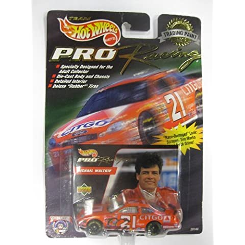 1998 Team HOT WHEELS - PRO RACING - Collectible edition TRADING PAINT -- MICHAEL WALTRIP - #21 CITGO by Mattel