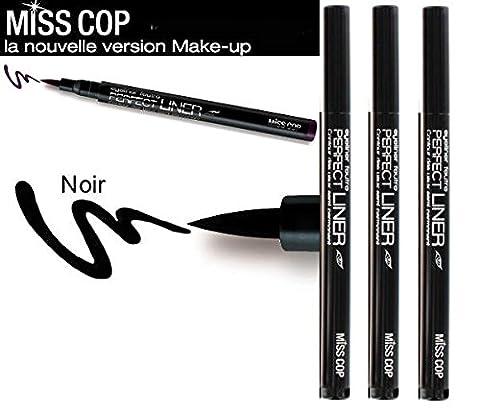 Miss Cop - Perfect Liner Feutre Noir (Pack de 3)