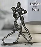 Casablanca - Skulptur, Dekofigur - Dancing - tanzendes Paar - Eisen Brüniert - 17 cm Hoch